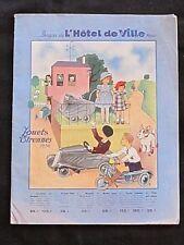 Catalogue Jouets Etrennes 1936 Bazar de l'Hotel de Ville Paris Dinette Poupons