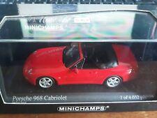 Minichamps 1/43 Porsche 968 Cabriolet 1994 red