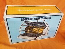 Vintage NOS Boekamp 650 Watt Infrared Quartz Energy Saver Heater Model 814