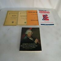 Lot of 5 Violin Sheet Music Books/Sheet Music Sitt Haydn