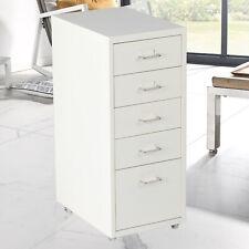Kariyer Rolling File Cabinet 5 Drawer Metal Storage Chest Home Office Furniture