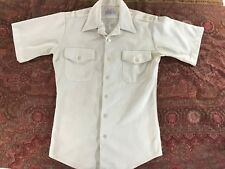"USA MILITARY / US NAVY HALF SLEEVE WHITE UNIFORM SHIRT ; 14 S (14.5"" COLLAR)"