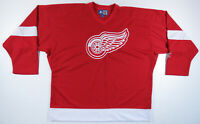 NWOT Vintage Detroit Red Wings Starter NHL Hockey Sewn Blank Red Mens Jersey XL