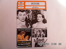 CARTE FICHE CINEMA 1951 FINI DE RIRE Robert Mitchum Jane Russell Vincent Price