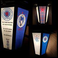 Scottish football Rangers themed  pub lantern bar light Glasgow Rangers