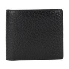 Hugo BOSS Men's Black Leather Wallet 'Dollar 8 cc' Bi-fold, Style 50311969 New