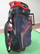 Bagboy 14 Divider Chiller Hybrid Stand Bag Navy/Charcoal/Red w Raincover Cooler