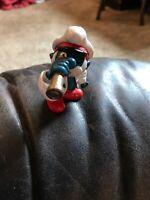 Smurfs Captain Papa Smurf 1981 Vintage Figure Toy PVC Peyo Figurine