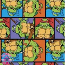 TMNT Teenage Mutant Ninja Turtles Patch Classic Cotton Fabric by the Yard