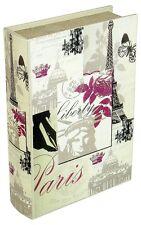 Paris Eiffel Tower Butterfly Design Storage Book Box