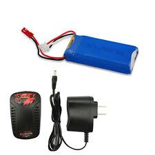 7.4V 1200mAh 30C JST Lipo Battery Fr Tarantula X6 V262 V333 + 2S Balance Charger