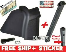 Strike Industries Black Featureless SIMPLE Grip & Stock Stop Block Fixed Stock
