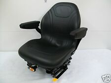 BLACK SUSPENSION SEAT,HUSTLER,EXMARK,SCAG,GRASSHOPPER,WALKER,KUBOTA, ZTR, #PA