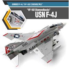 Academy 1/48 F- 4J Phantom 2 VF - 102 Diamondbacks Kit Plastic Model