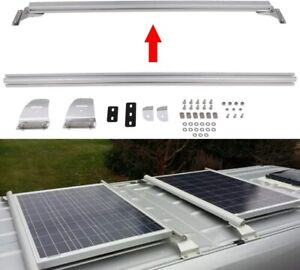 Solar Panel Mount Crossbars for Van Trailer Roof Rails with Hardware NEW