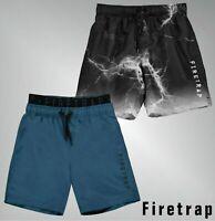 Boys Branded Firetrap Drawstring Tie Elasticated Waistband Swim Shorts 4-13 Yrs