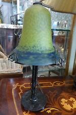 Lampe Fer Forgé et tulipe Art Nouveau/ DAUM MULLER NOVERDY ......