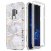 Case For Samsung Galaxy S9 S9 Plus Full Protect Built-in Screen Protector Marble