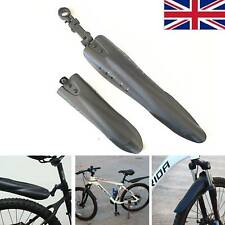 2 Pieces Bicycle Bike Mountain Road Front Rear Fender Mudguard Guard Black