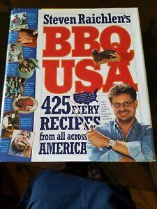 Steven Raichlen's BBQ USA 425 fiery recipes from all across America hardcover/DJ
