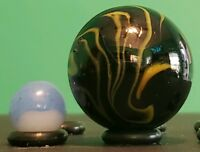 "1 Mammoth Shooter Marble 1.4"" Poison Dart Frog Mega/Vacor (1&3/8) (35mm)"