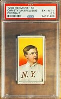 1910 T206 PIEDMONT 150 - CHRISTY MATHEWSON, PORTRAIT - PSA 6.5 EX-MT+