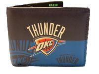 Oklahoma City Thunder NBA Printed Logo Leather Bi-Fold Wallet