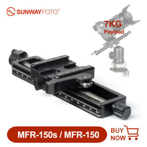 SUNWAYFOTO MFR 150/150S Macro Focusing Rail Camera Slider Bracket fr Photography