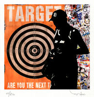 TABLEAU ART CONTEMPORAIN NEXT TARG..  ed. TEHOS serie limitee 250 ex street art