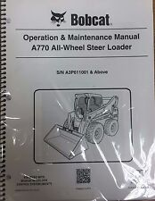 Bobcat A770 Skid Steer Operation & Maintenance Manual Operator/Owners 1 #6989479