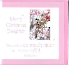 Christmas Card Amanda Hancocks Merry Christmas Daughter 5x5 Card UK Import