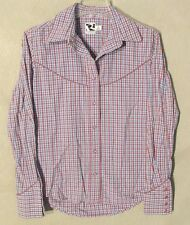 W6611 Rockies Womans S Purple/Blue/White Pink Pearl Snap button Up Western Shirt