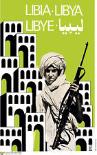 Political OSPAAAL poster.LIBIA.Libya Lebye Soldier.Gaddafi Cold War History.me2