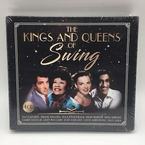 The Kings and Queens of Swing (4 CD 2018) 80 Classics Sinatra  Fitzgerald - NEW