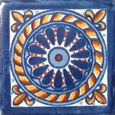 C#007) MEXICAN TILES CERAMIC HAND MADE SPANISH INFLUENCE TALAVERA MOSAIC ART