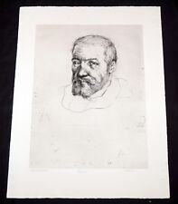 "'64 California Etching Print ""Michelangelo"" by Thomas Cornell (1937-2012)(Mod)"