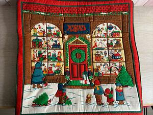Vintage Christmas Cushion Covers - Festive Holiday Designs 16x16 Inch - Santa