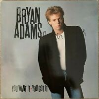 """BRYAN ADAMS HAND SIGNED YOU WANT IT YOU GOT IT 12"""" VINYL."""