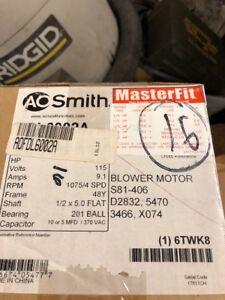 Century AO Smith FDL6002A Multi-HP Fan Motor, 3/4, 1/2, 1/3, 1/4, 1/5 HP, PSC,