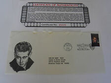James Dean First Day Covers Cancelled at Warner Bros Studio Envelope COA