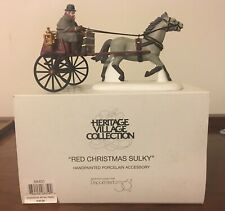 Dept 56 - Heritage Village Collection - Red Christmas Sulky - 58401