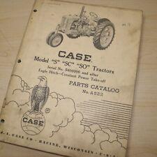 Case S Sc So Series Tractor Parts Manual Book Catalog List Spare Farm Vintage