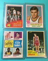 1974-75 TOPPS LAKERS TEAM LEADERS BASKETBALL #90 GAIL GOODRICH HAIRSTON Crease