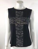Wet Seal Womens Tank Top Size Small Black Sleeveless Cross Graphic Tee Shirt