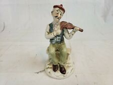 Flambro Porcelain Figurine Old Man Playing The Violin Pt2