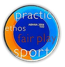 OLYMPIC VALUES #4 - OLYMPIC METALLIC MAGNET ATHENS 2004 OLYMPIC GAMES