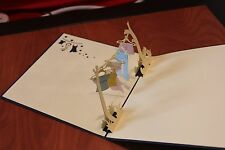 Origami Handcrafted 3D Greeting Card cute Pop Up Card Thanksgiving Christmas