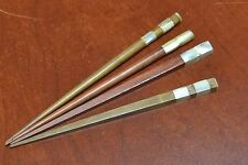 4 PCS HANDMADE MOTHER OF PEARL SHELL WITH WOOD HAIR STICK PINS #T-60