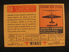 1952 Topps Wings Spanish Edition Proof Card #56