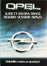 Opel 1980 UK Market Sales Brochure Kadett Ascona Manta Rekord Senator Monza